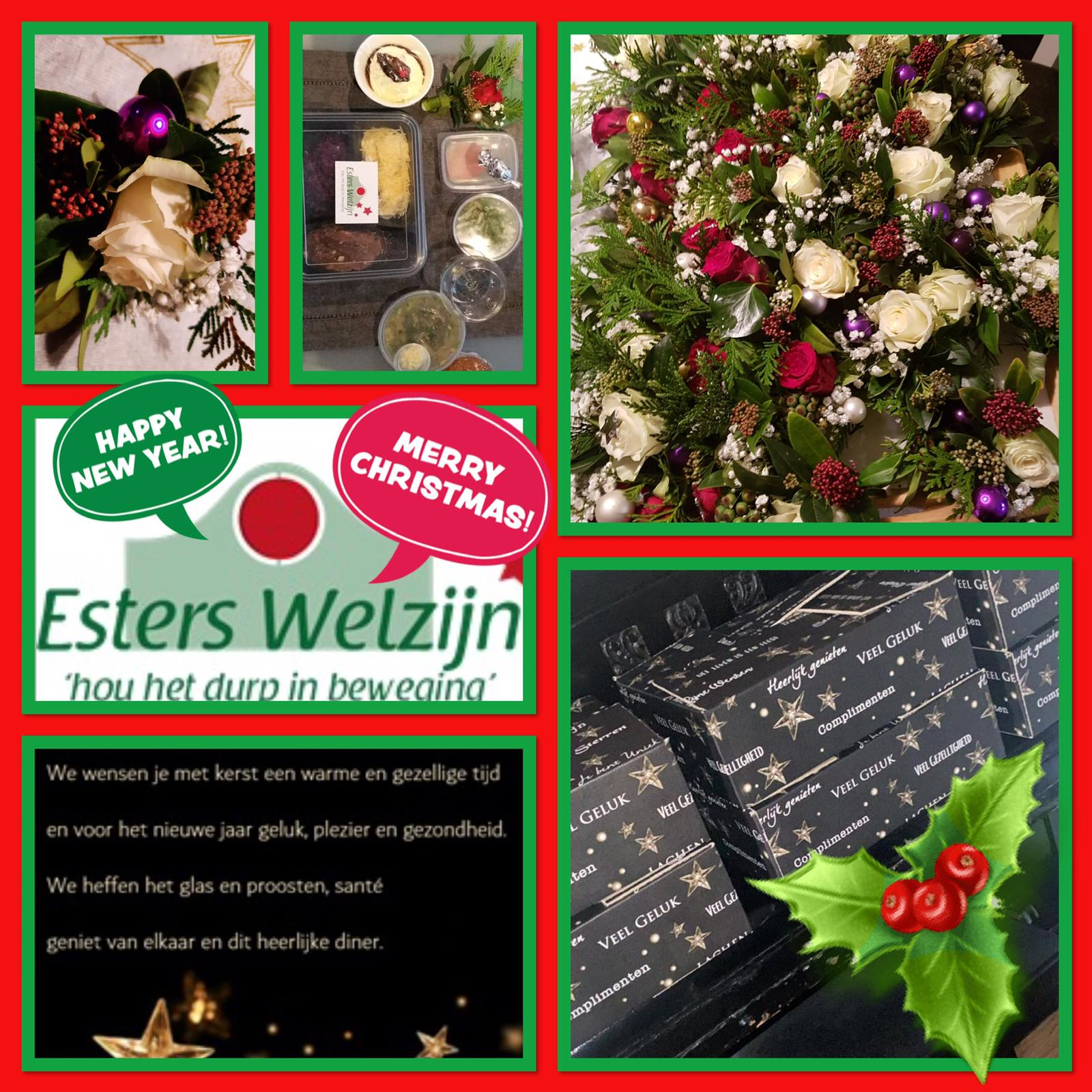 Esters Welzijn fotocollage Kerstdiner 23-12-2020